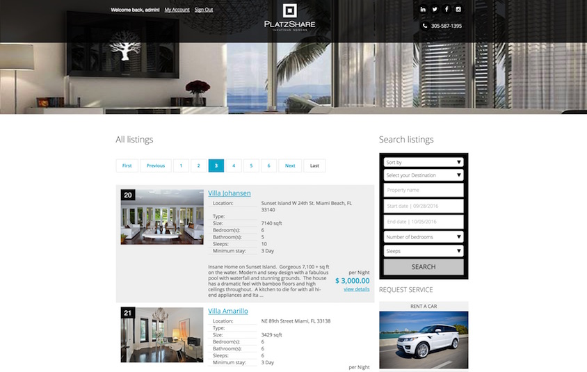 Website for Property Rental and Sales Listings